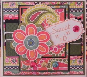 Sweet Sixteen Card...shhhh:)