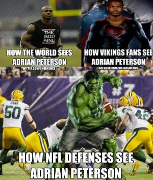 Adrian Peterson = beast