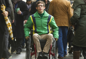 GLEE: Artie (Kevin McHale) experiences difficulties navigating the ...