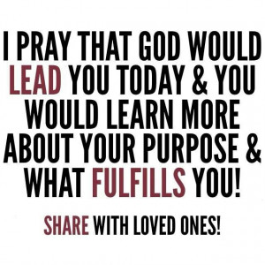 WHAT IS GOD'S PURPOSE FOR YOUR LIFE.