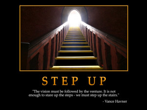 ... on Success with quote by Vance Havner: Step up to reach the top