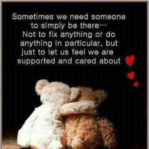 Support one another