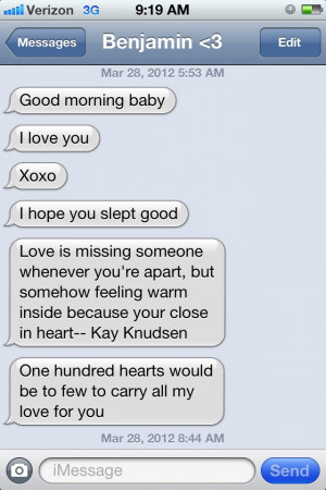 Cute Good Morning Texts For