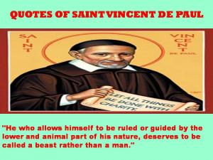 QUOTES OF SAINT VINCENT DE PAUL - 08-10-2012