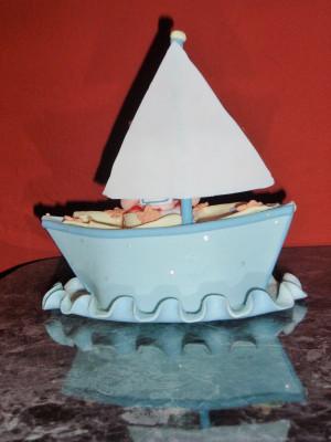 Sailboat Nautical Candy Cake Centerpiece Birthday Wedding Baby Showe