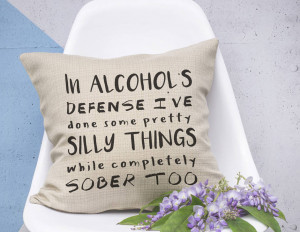 funny alcohol quote cushion home cushion funny alcohol quote cushion