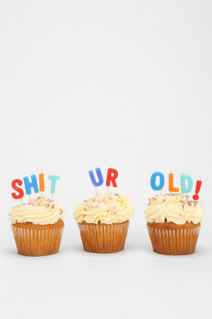 Happy F'n Birthday Candle - Set Of 16