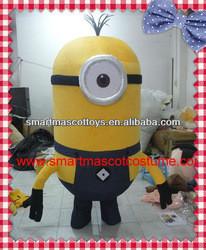 Hot Sale high quality minion mascot costume plush adult minion costume