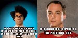 The difference between Maurice Moss and Sheldon Cooper. ( i.imgur.com ...
