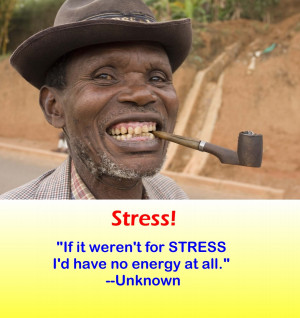 Funny Quote -Stress