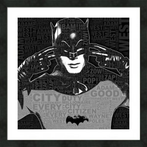 Tv Batman Adam West And Quotes Framed Print By Tony Rubino