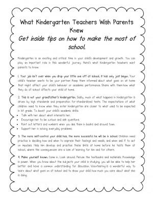 Literacy Minute: What Kindergarten Teachers Wish Parents Knew ...