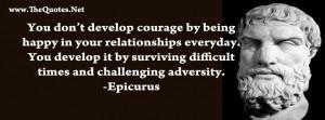 Epicurus Quote