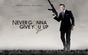 quotes men james bond weapons typography rick astley actors rickroll ...