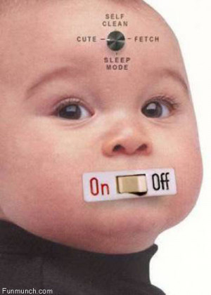 Funny Baby On off Image