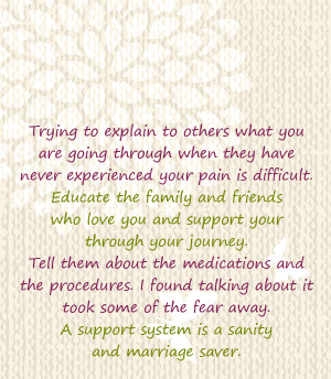 support system is a sanity and marriage saver.