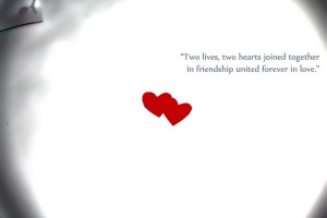 Two Hearts Become One Quote