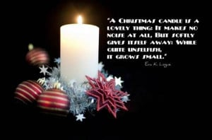 Christmas Candle Quotes for Friends Wallpaper