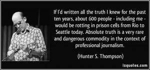 25+ Outstanding Hunter S Thompson Quotes