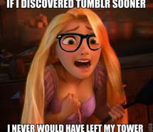 disney, funny, left, rapunzel, tangled, tower