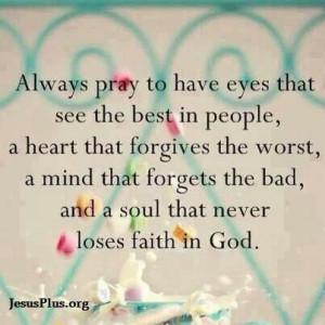 Never lose faith in God