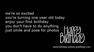 happy one year old birthday greeting cards -