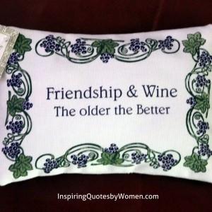 """... Lavender Sachets / Lavender Sachet – """"Friendship & Wine"""" quote"""