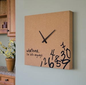 Interior Design : Whatever I'm Late Anyways Wall Clock