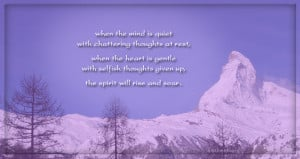 When the mind is quiet quotes, spiritual quotes