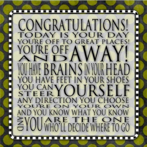 Congratulations Quote Dr. Seuss Word Art Prints by catalyst54