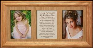 MY WEDDING DAY Poetry & Photo 2-Opening ~ LIGHT/MEDIUM Solid Oak Frame ...
