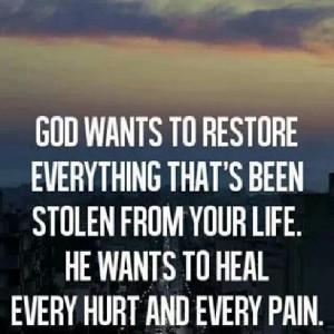 God heals and restores
