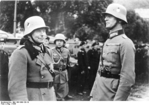 German generals Heinz Guderian and Reinhardt at Karlovy Vary (German ...