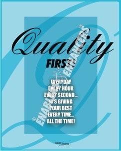 Quality Slogans Posters