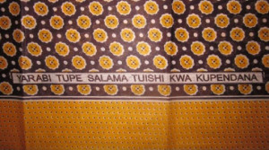... KWA KUPENDANA / GOD GIVE US PEACE TO LIVE IN LOVE WITH EACH OTHER