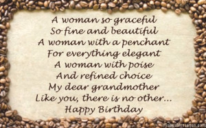 Sweet birthday card poem for grandmother Graceful Birthday Wishes For ...