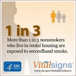 nonsmokers who live in rental housing is exposed to secondhand smoke