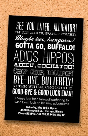 Go Back > Gallery For > Going Away Party Quotes