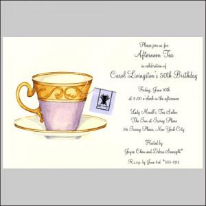Ladies Tea Invitation Wording