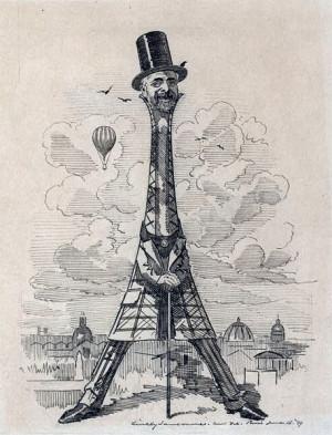 Caricature de Gustave Eiffel