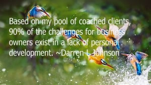 Based on my pool of coached clients, 90% of the challenges for ...