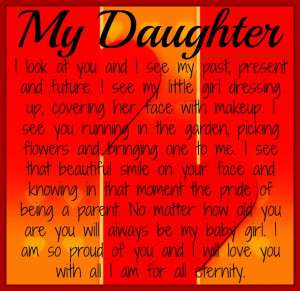My Daughter ~ If you have a daughter, this is a must share.