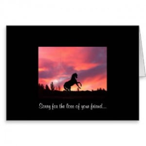 Sympathy- Loss of your horse card