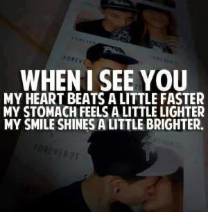my heart beats a little faster my stomach feels a little lighter my ...
