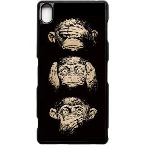 Xperia Z3 Hear no evil speak no evil quote Monkey phone case