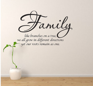Family Wall Quote Branches...