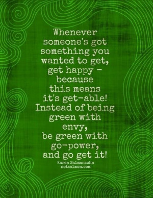 Envy quotes and cute sayings green