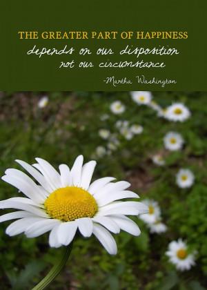 Happy Daisy Quote Photograph - Happy Daisy Quote Fine Art Print