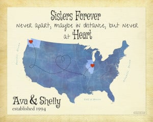 Distance Sisters Quote