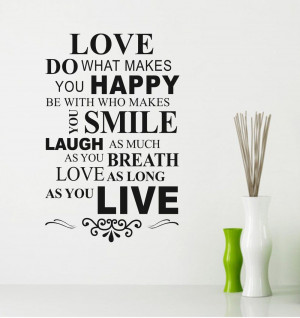 Finding Love Quotes You happy love quote wall
